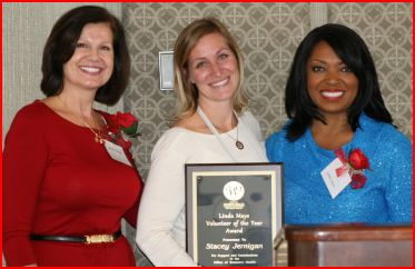 "alt=""Stacey Jernigan Receives Volunteer of The Year Award"""